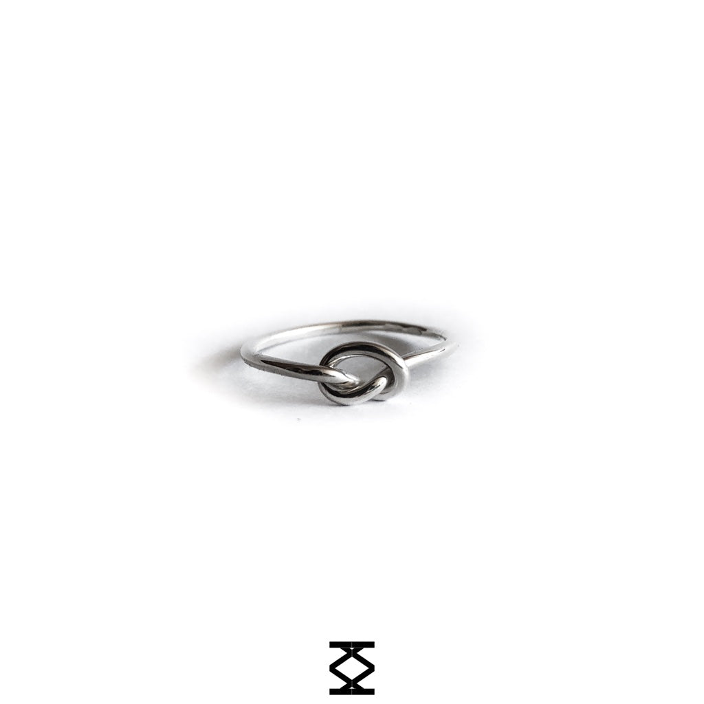 Knot - custom silver ring 925