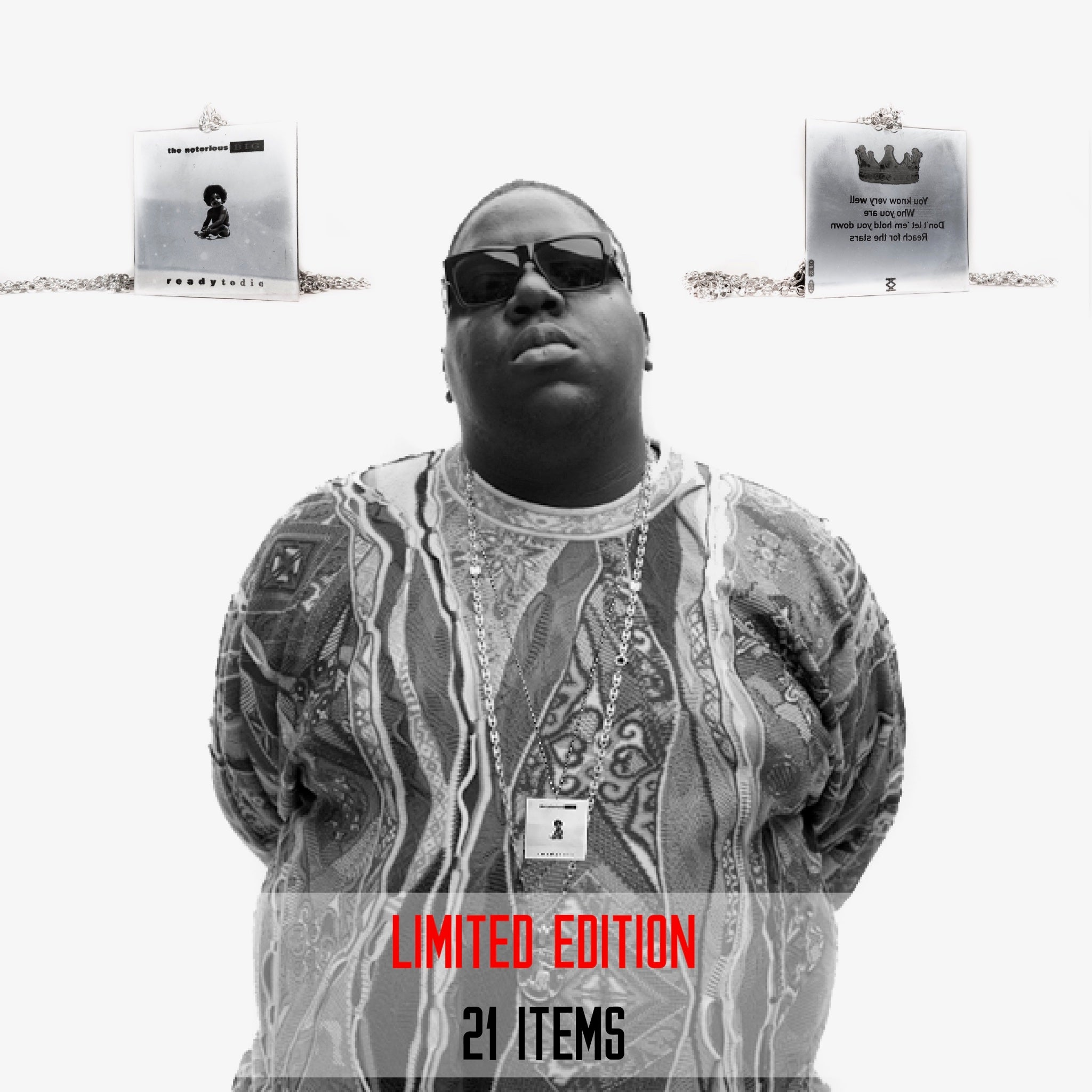 THE NOTORIOUS B.I.G. - collana in argento 925 di album musicale
