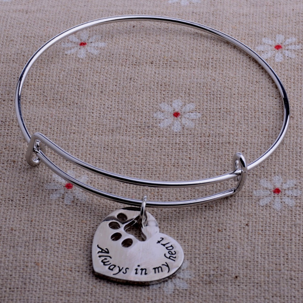 Always In My Heart Cat Bracelet