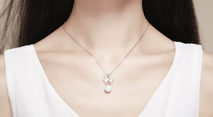 Fashion Pearl Cat Necklace