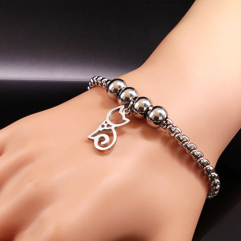 Cat Stainless Steel Bracelet