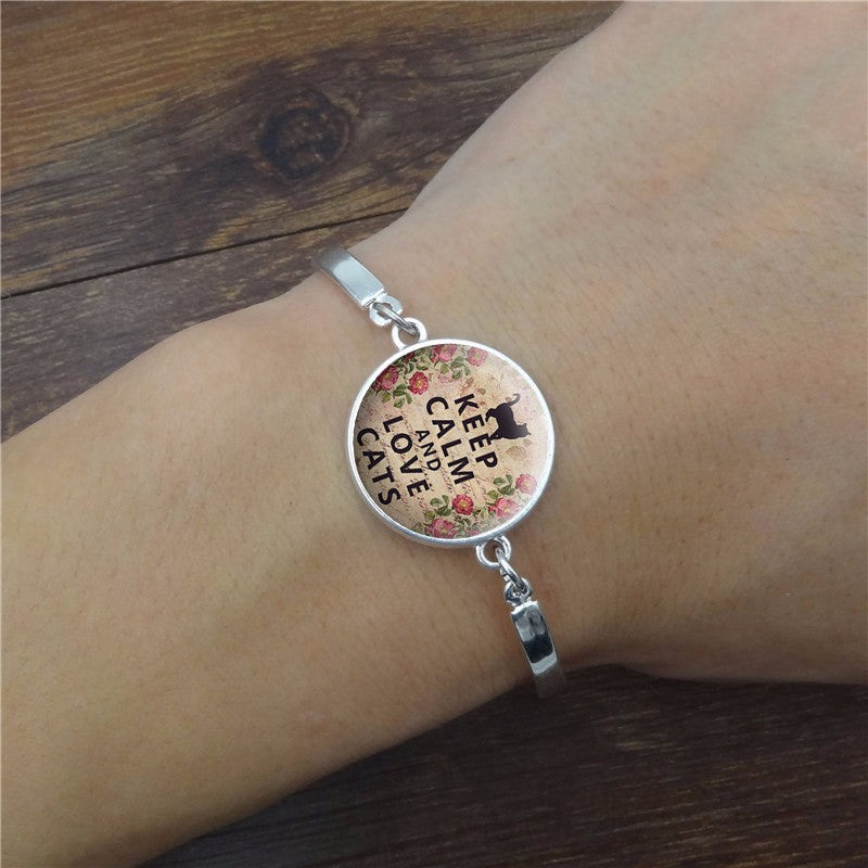 Keep Calm And Love Cats Handmade Bracelet