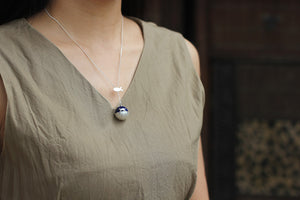 Blue World Cat Necklace