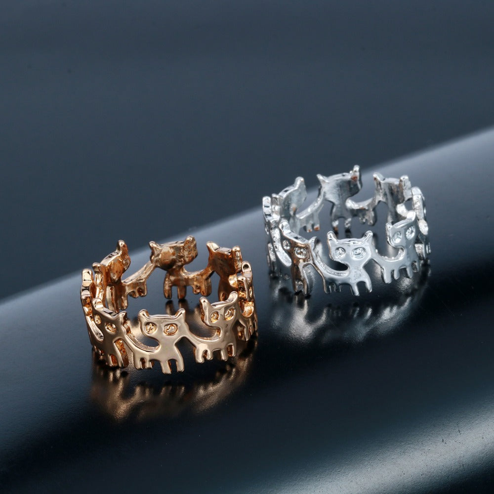 Dancing Cats Ring
