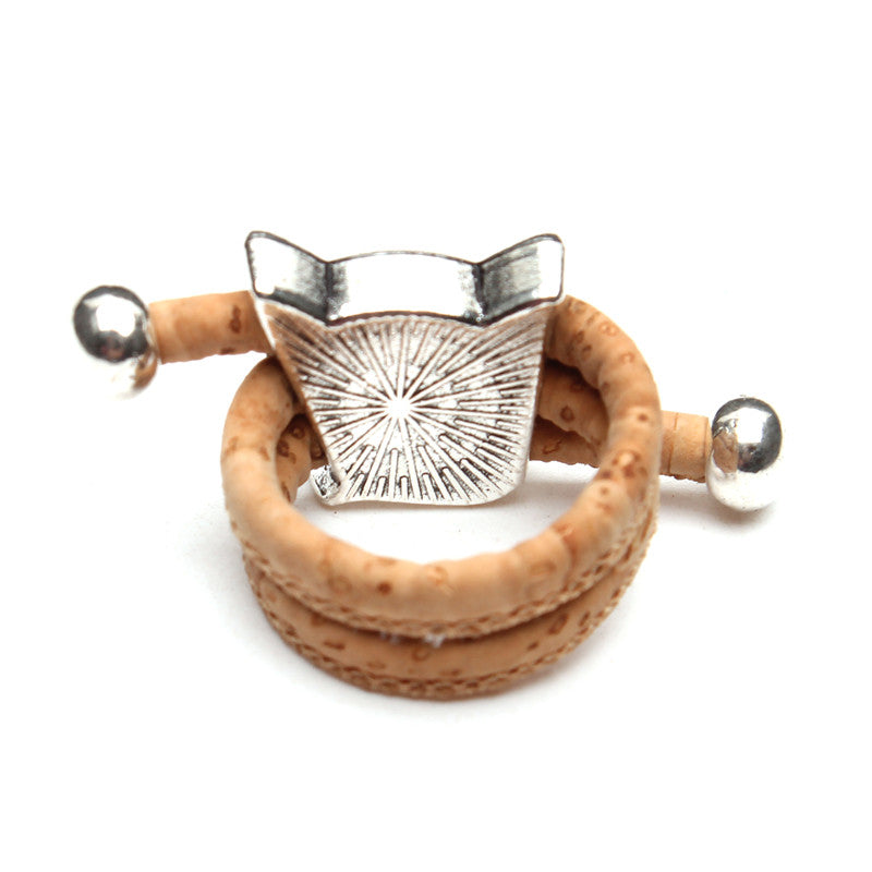 Natural Cork Cat Ring
