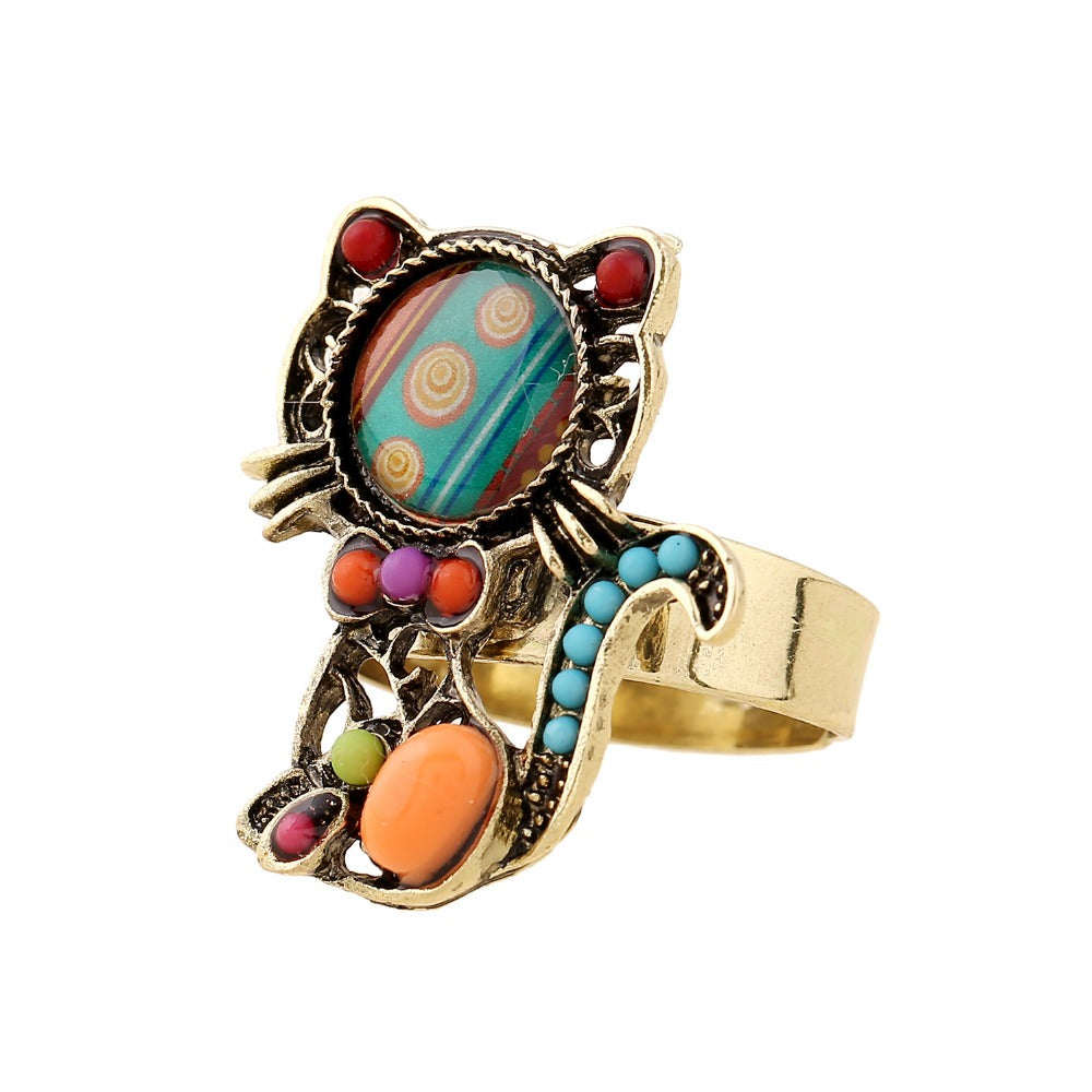 Colorful Cat Ring