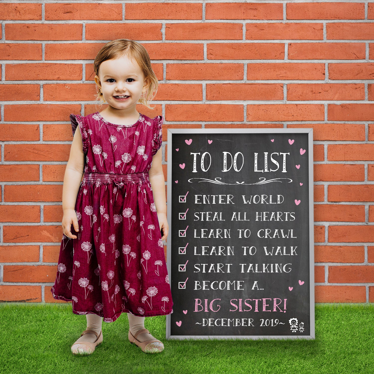big sister to do list poster sign pa032 katie doodle