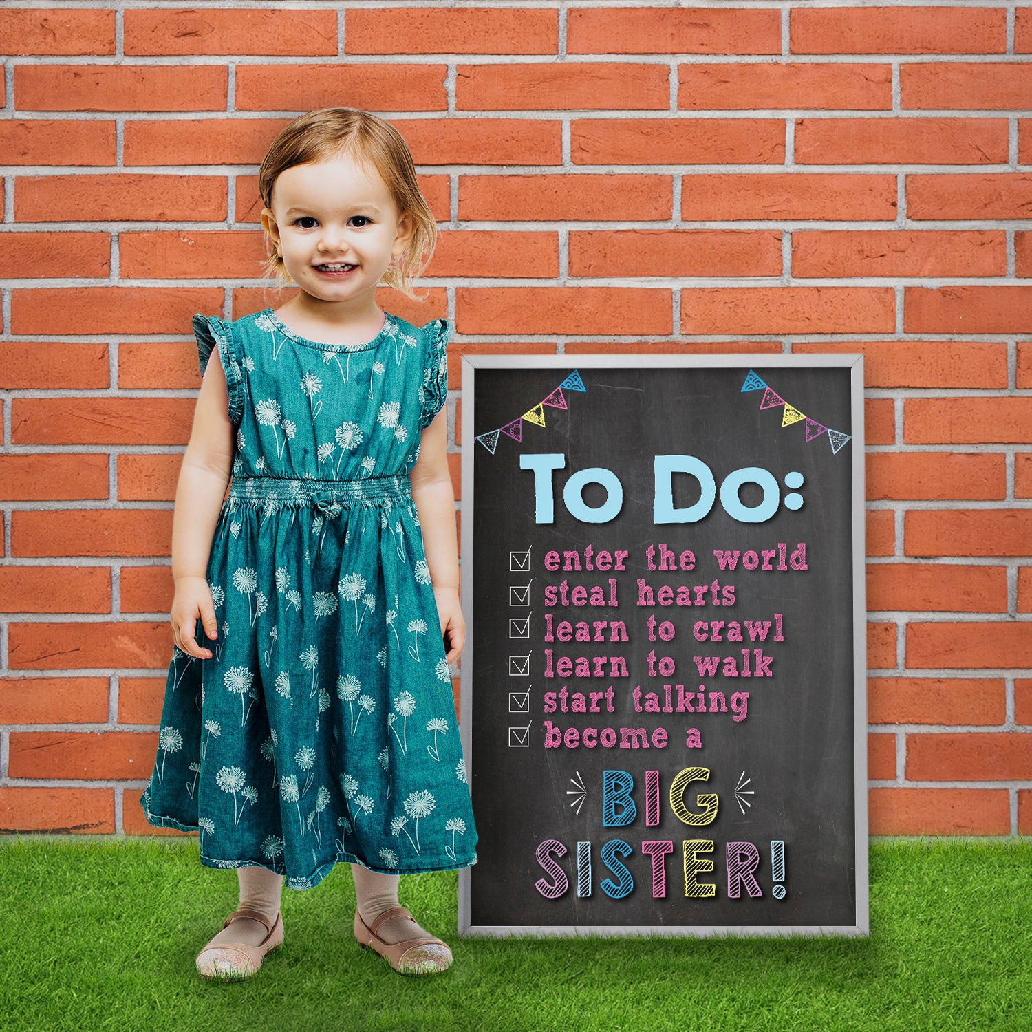 big sister to do list poster sign pa002 katie doodle