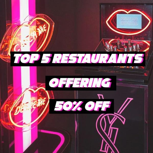 Top 5 Manchester Restaurants Offering 50% Off | KATCH ME