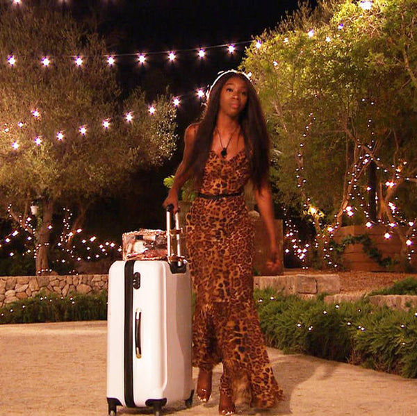 Yewande Brown Leopard Print Sheer Maxi Dress