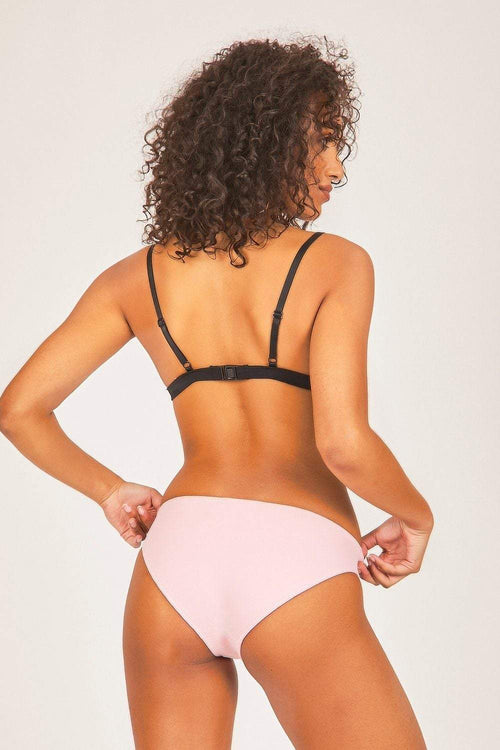 Baby Pink & Black Triangle Bikini Set - KATCH ME