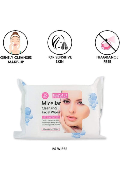 Beauty Formulas Micellar Cleansing Face Wipes