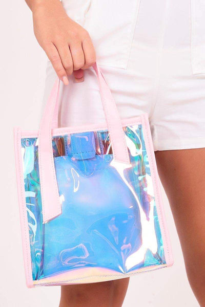 Becky Pink Holographic Tote Bag