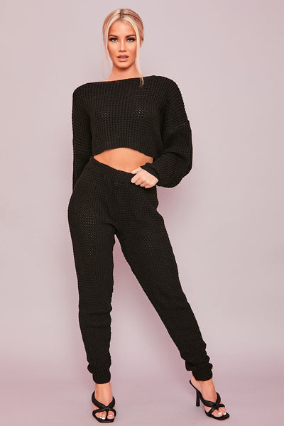 Black Chunky Knit Co-Ord - Eleanor