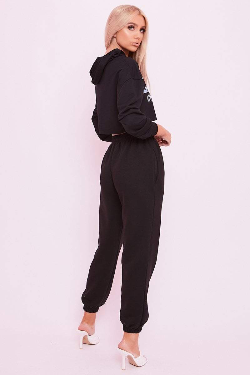 Black Cuffed Joggers- Phillipa - KATCH ME