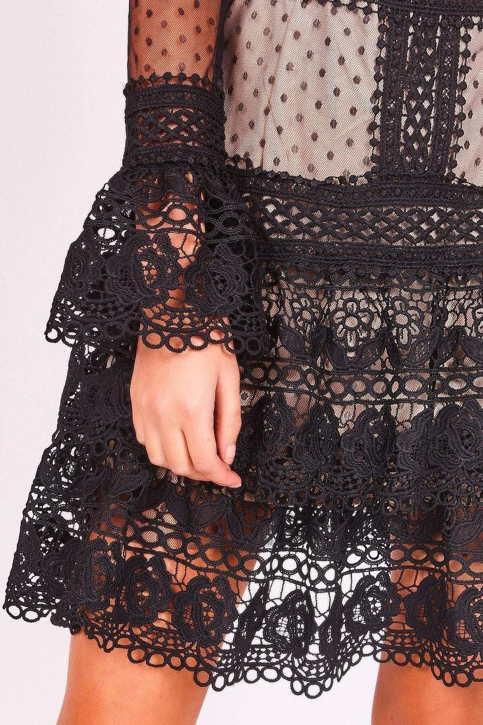 Black Sheer Lace Dress - KATCH ME