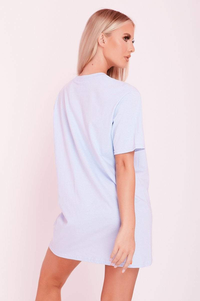 Blue Basic Oversized T-Shirt- Quinn - KATCH ME