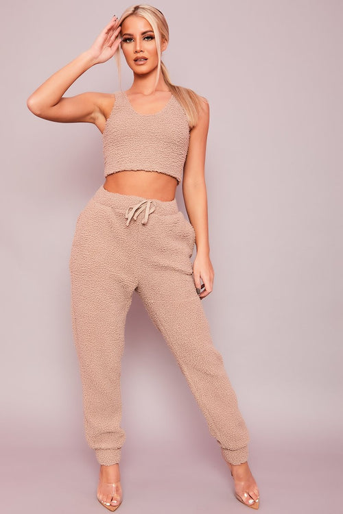Camel Teddy Co-Ord Set - Harley - KATCH ME