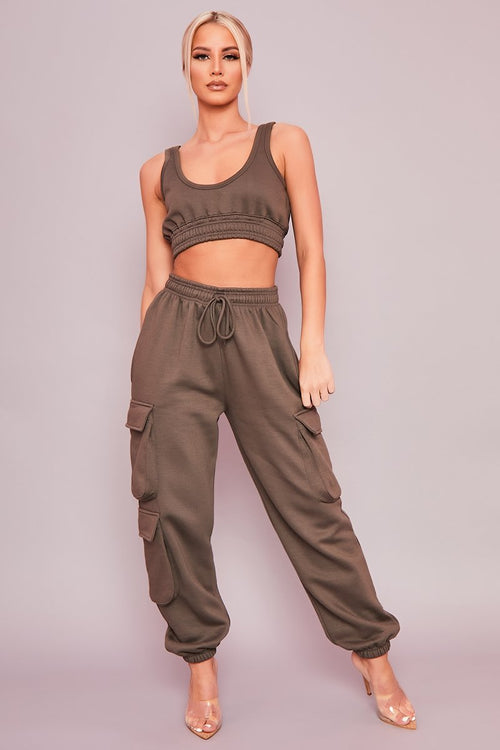 Charcoal Cargo Co-Ord Set - Carole - KATCH ME