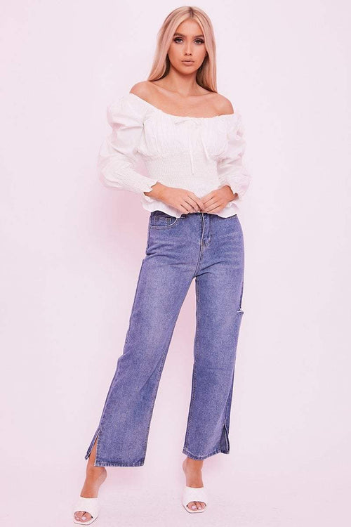 Dark Wash Wide Leg Jeans- Rheanne - KATCH ME
