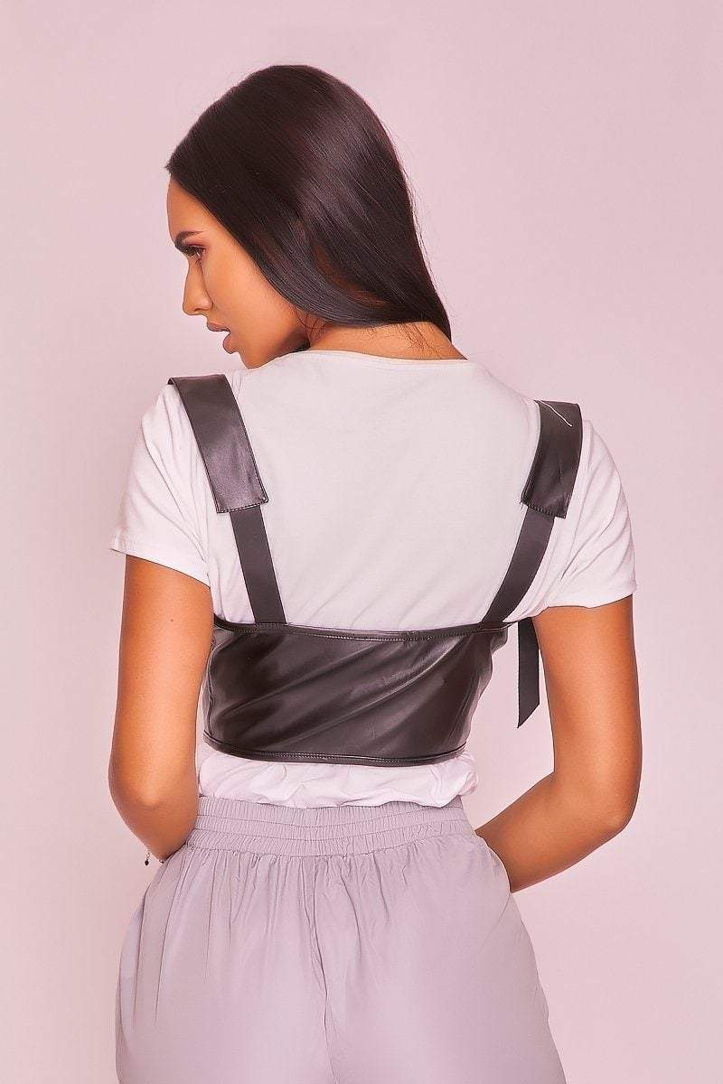 Faux Leather Buckle Strap Harness - KATCH ME