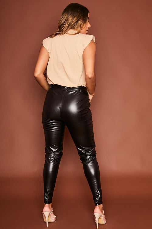 Faux Leather Trousers - Trinity - KATCH ME