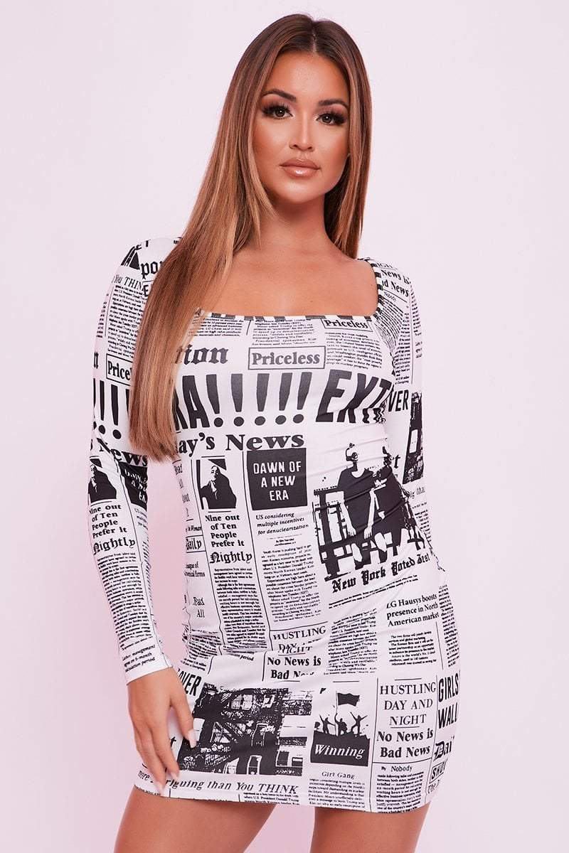 Graphic Mini Dress - Tatiana - KATCH ME