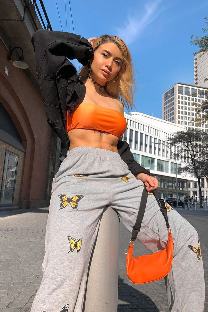 Grey Butterfly Joggers - Laura - KATCH ME