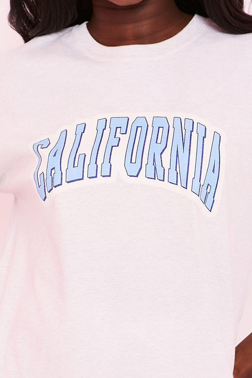 Grey California Graphic Tee - Darby - KATCH ME