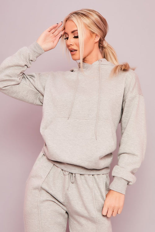 Grey Hoodie Sweatshirt Co-Ord - Trixie - KATCH ME