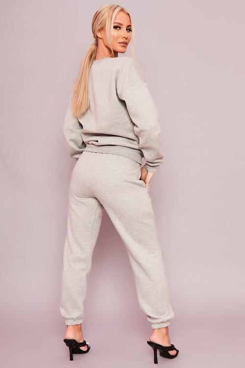 Grey Sweatshirt Co-Ord - Valerie - KATCH ME