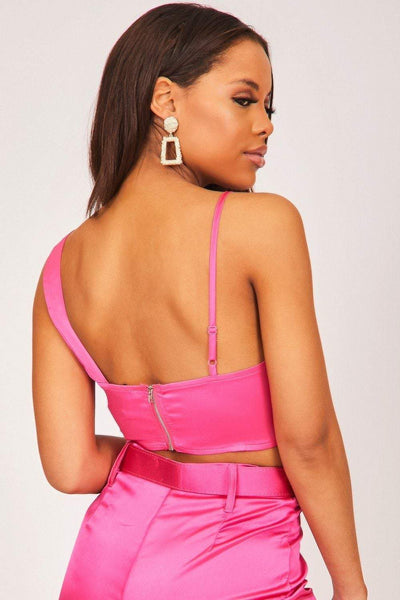 Hot Pink Satin Bralette - KATCH ME
