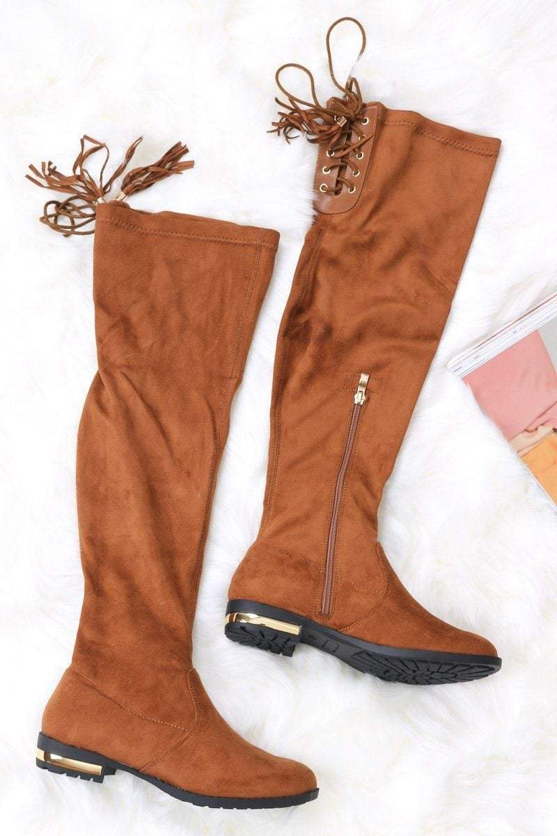 Layla Lace Up Boots - Uk 3/ Us 5/ Eu 36 Brown