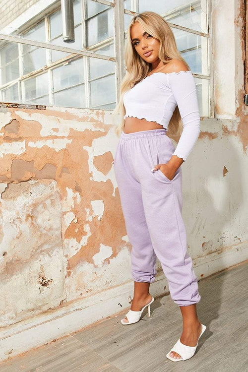 Lilac Cuffed Joggers - Carter - KATCH ME