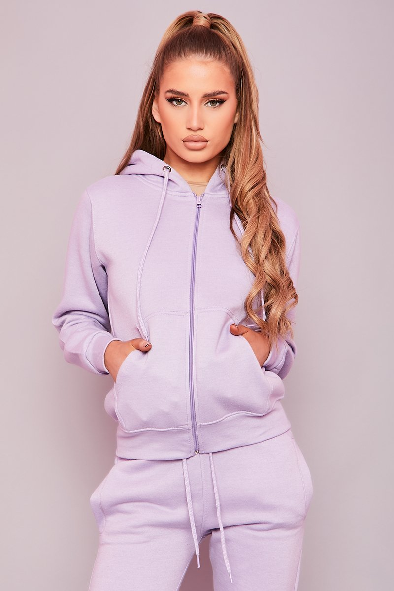 Lilac Zip Up Hoodie & Joggers Co-ord- Drew - KATCH ME