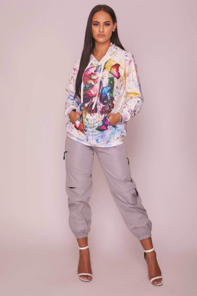 Multi Coloured Graphic Print Hoodie - KATCH ME