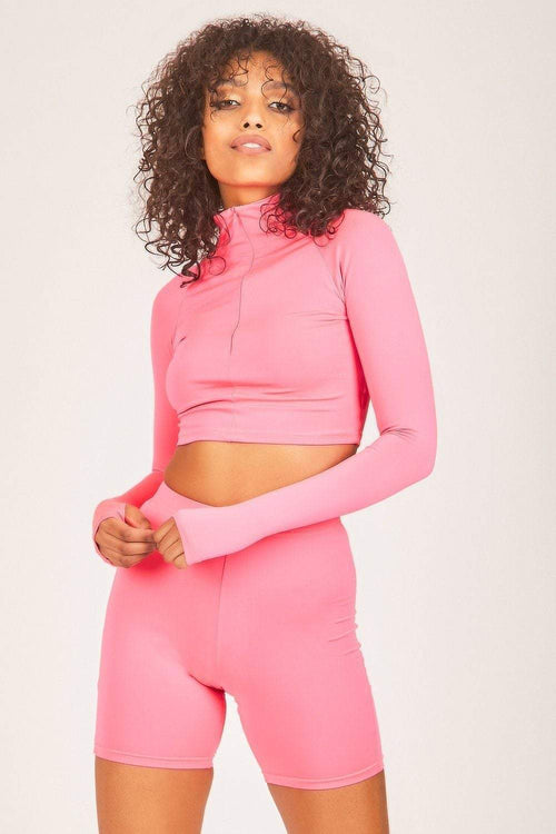 Neon Pink Cycling Shorts - KATCH ME