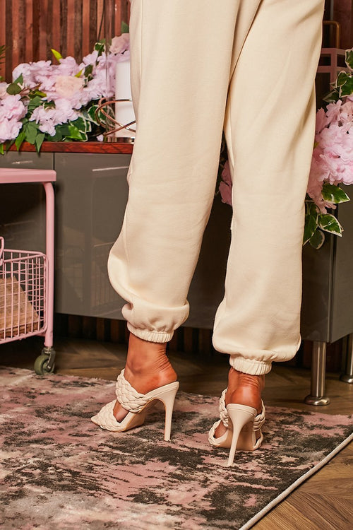 Nude Chunky Braid Strappy Heel - Carrie - KATCH ME
