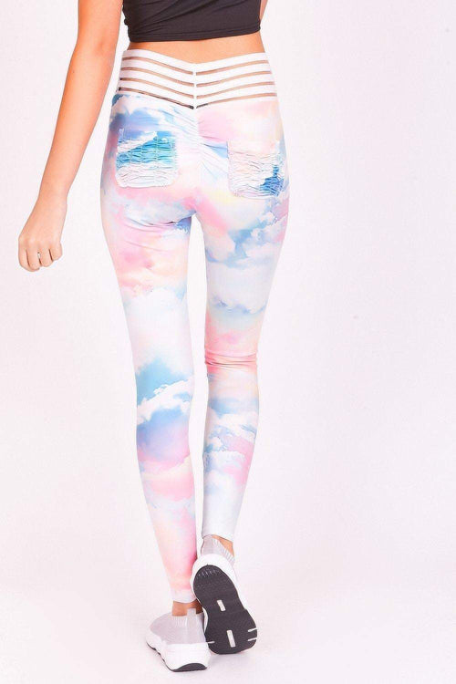Pastel Abstract Leggings - KATCH ME