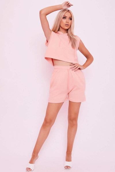Pink Boxy Fit Sweat Shorts- Selina - KATCH ME