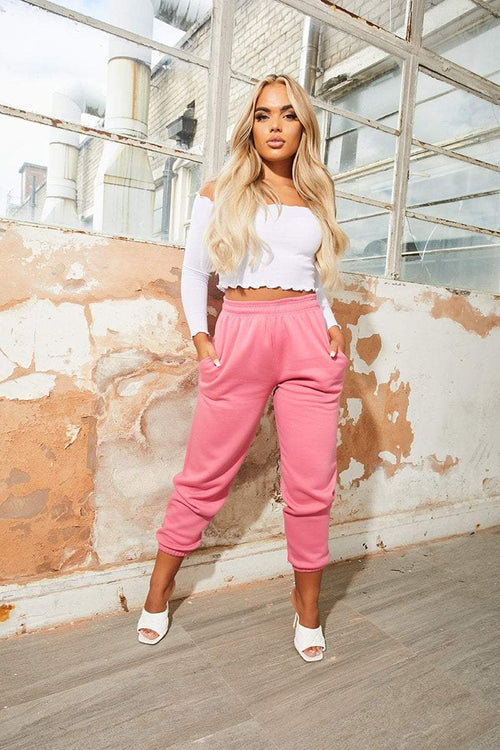 Pink Cuffed Joggers - Carter - KATCH ME