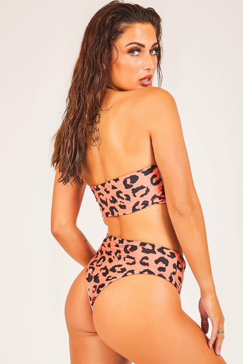 Red Leopard Print Bikini Set - KATCH ME