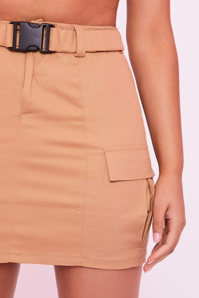 Sand Buckle Utility Skirt - Gianna - KATCH ME