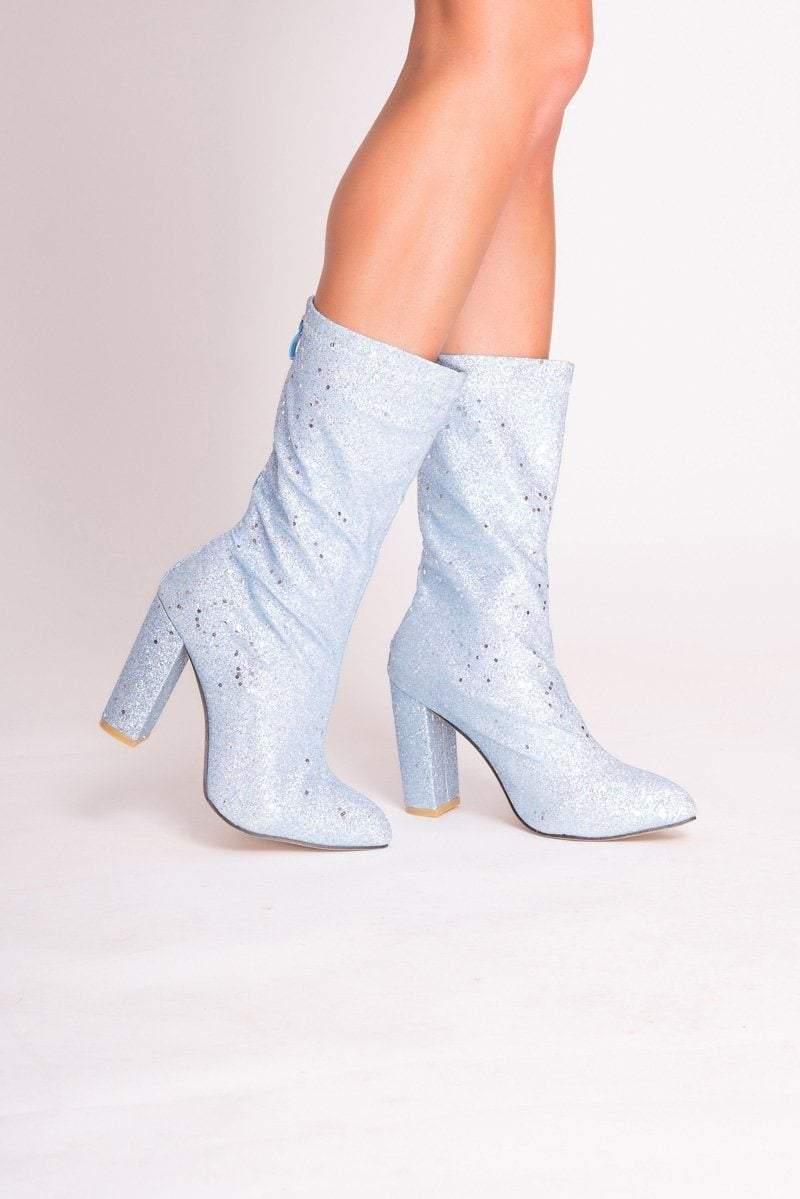 Sara Silver Glitter Ankle Boots - Uk 3/ Us 5/ Eu 36 Silver