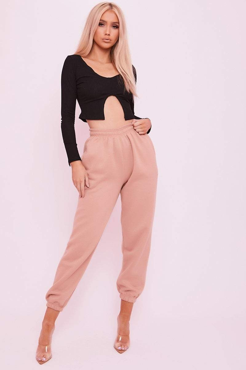 Tan Cuffed Joggers- Phillipa - KATCH ME