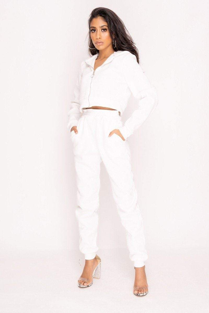 White Hoodie & Joggers Co-ord - KATCH ME