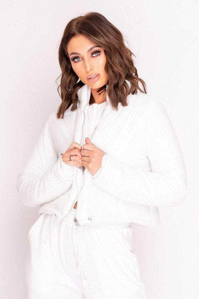 White Padded Puffer Coat - KATCH ME