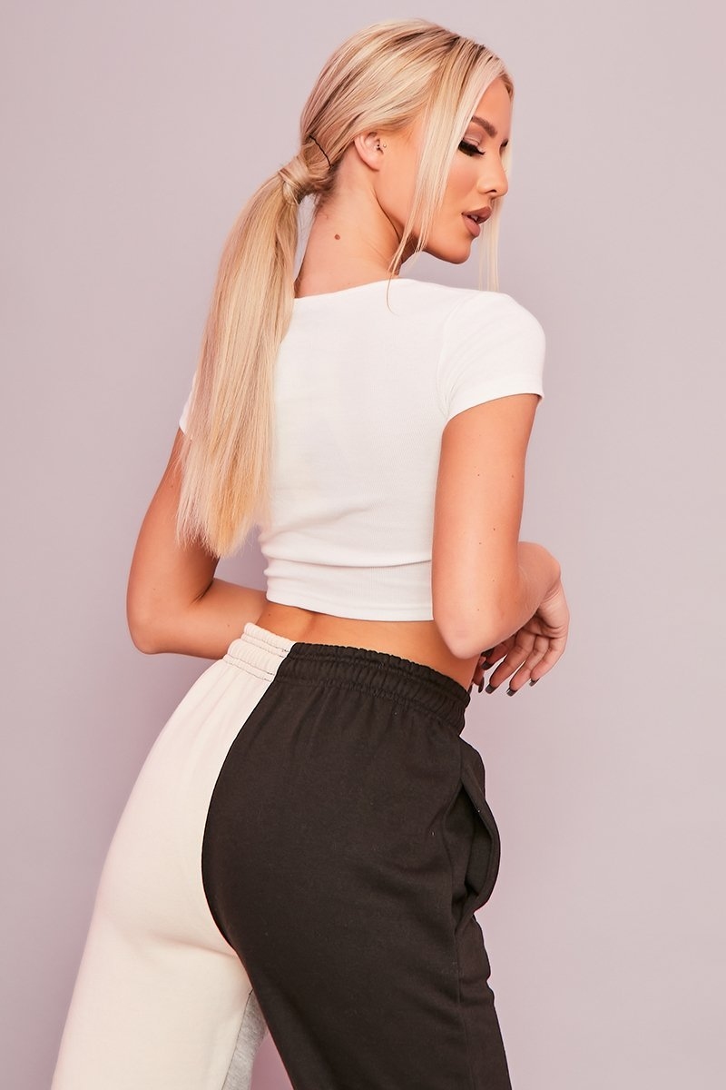 White Ribbed Crop Top - Joelle - KATCH ME