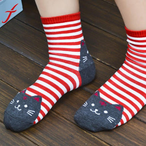 Striped Animals Cartoon Socks