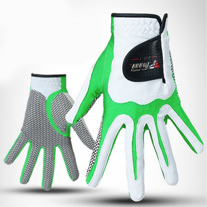 PGM 1PCS Men's Golf Glove for left hand Anti-slip Granules Granules Mitten Soft Breathable Training Soft Fiber cloth Golf Gloves